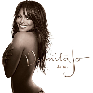 Janet in profile with the words Damita Jo